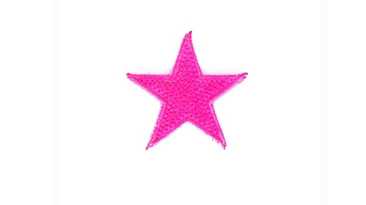 Neon Pink Sequin Star
