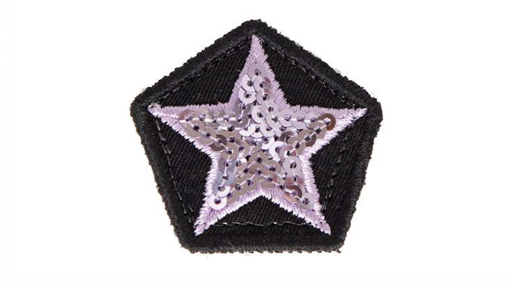 Mini Pale Pink Sequin Star