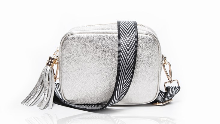 Silver Leather Bag