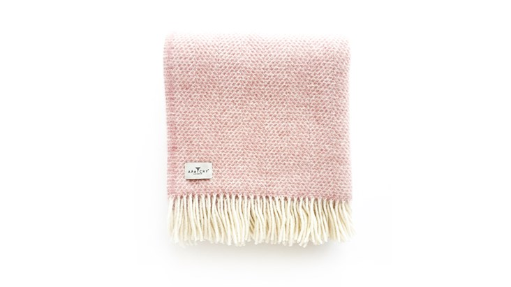 Dusty Pink Wool Throw