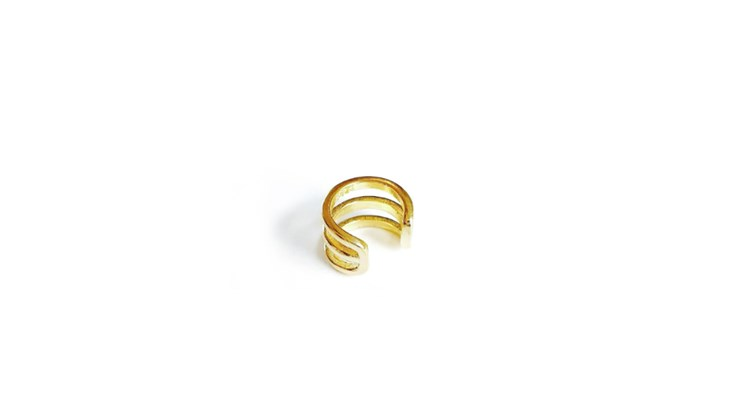Gold Plain Cuff Earring