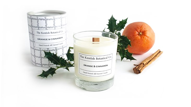 Hand-poured Orange and Cinnamon Candle