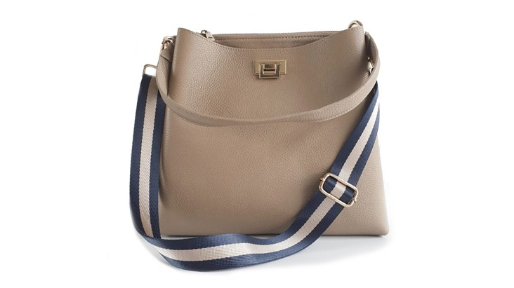 Taupe Leather Tote Bag and Strap