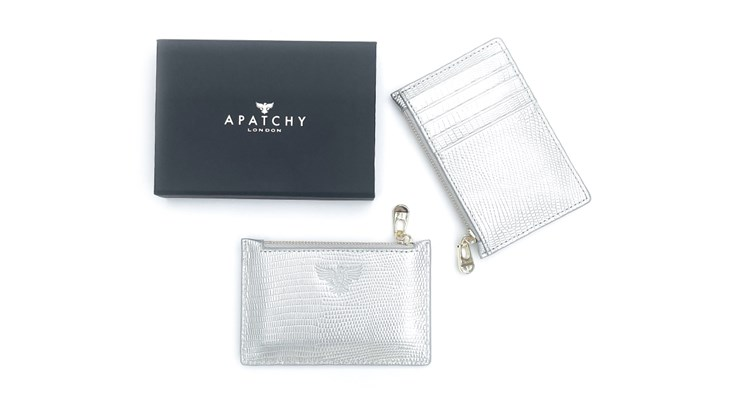 Silver Leather Cardholder