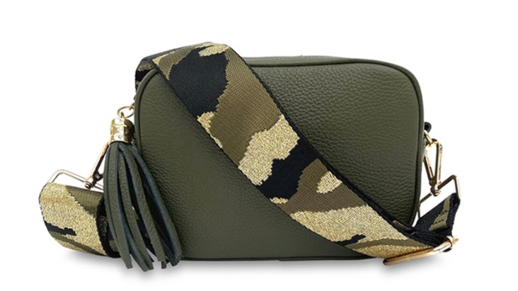 Olive Green Leather Bag and Strap