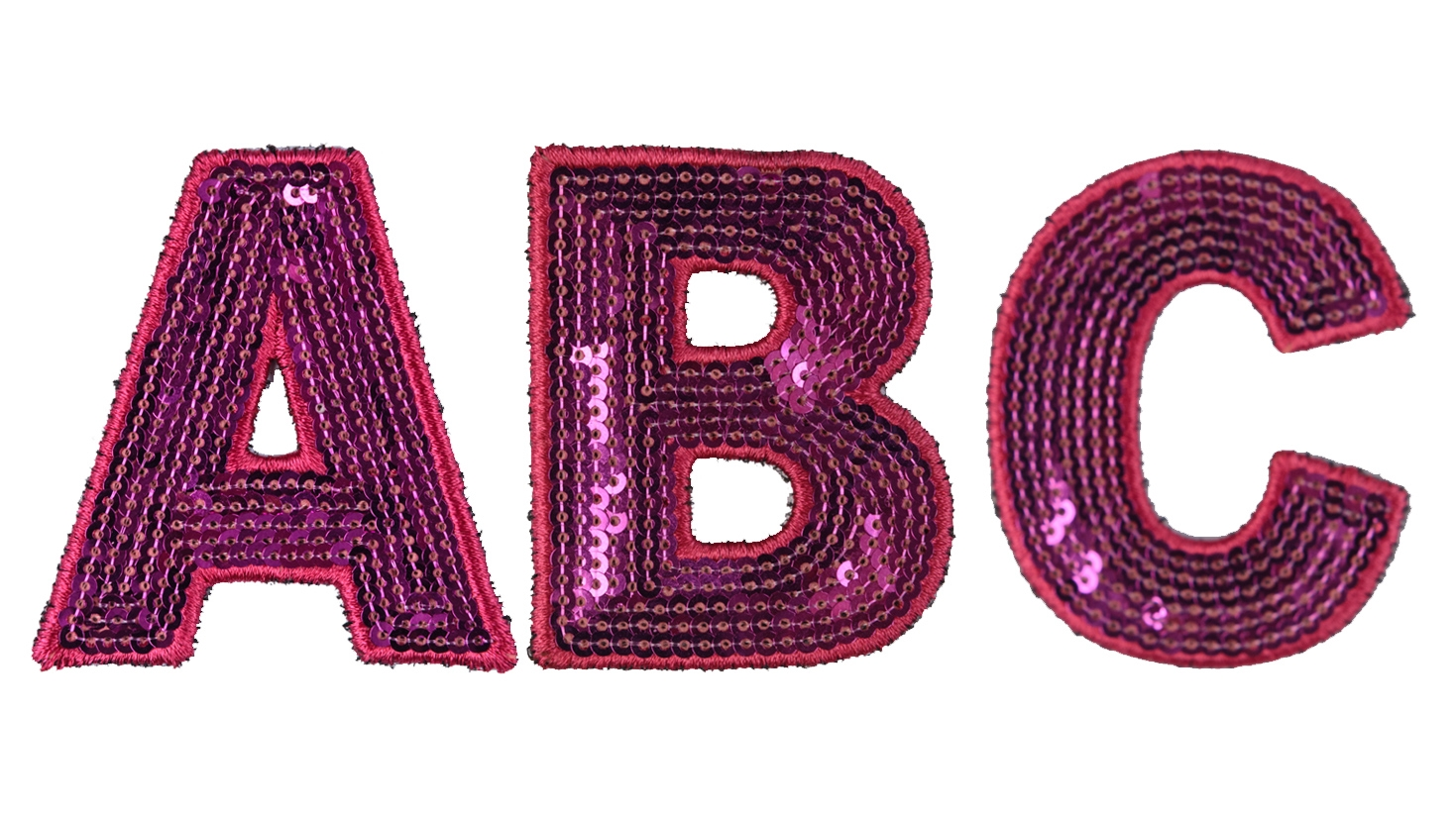 pink sequin letters