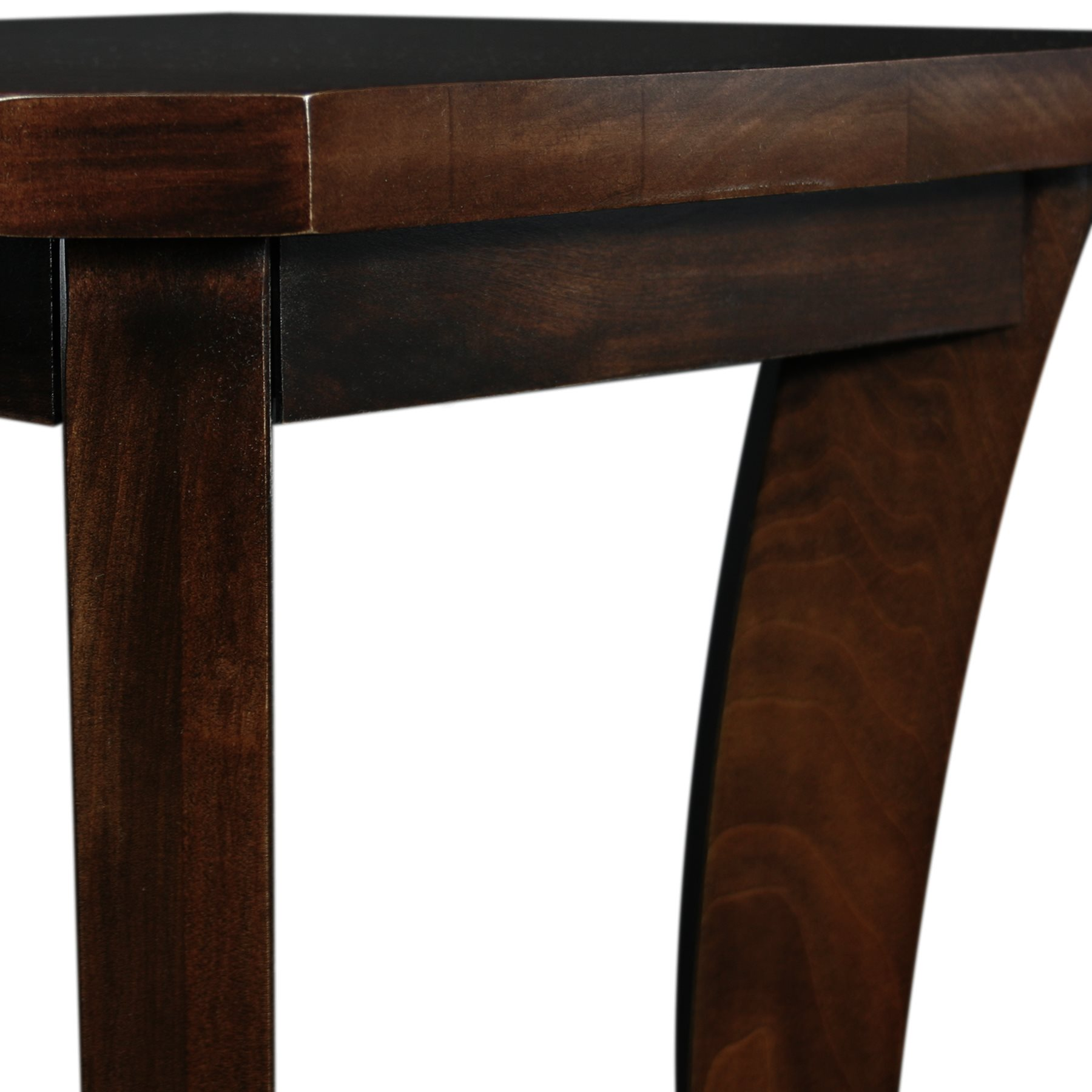 Leick Furniture Boa Chocolate Cherry Narrow Chairside Table 10305