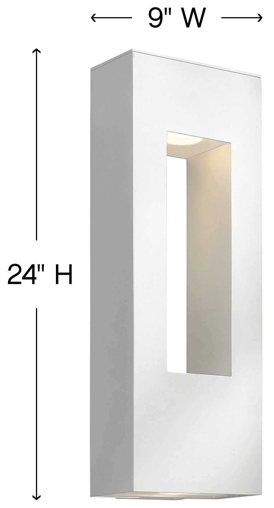 Hinkley Lighting 1649sw Atlantis Modern Contemporary Outdoor Wall Sconce Large Hk 1649 Sw