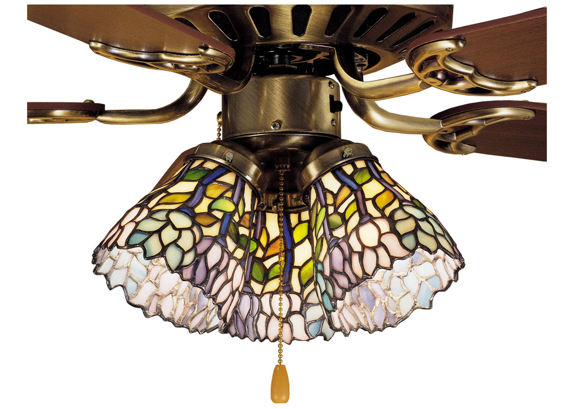 Meyda Tiffany Wisteria Fan Light Shade