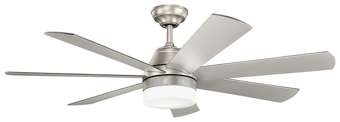 Kichler lighting ellys 56 brushed nickel ceiling fan w 7 blades kichler lighting ellys 56 034 brushed nickel ceiling aloadofball Image collections