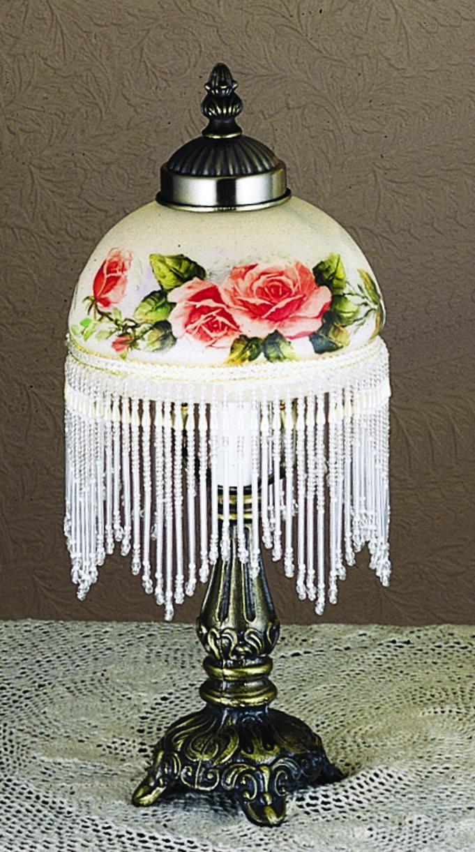 Meyda Tiffany 31323 Rose Fringed Traditional Mini Table