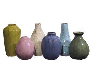 IMax 35004 6 Mini Tuscany Vase Set IX