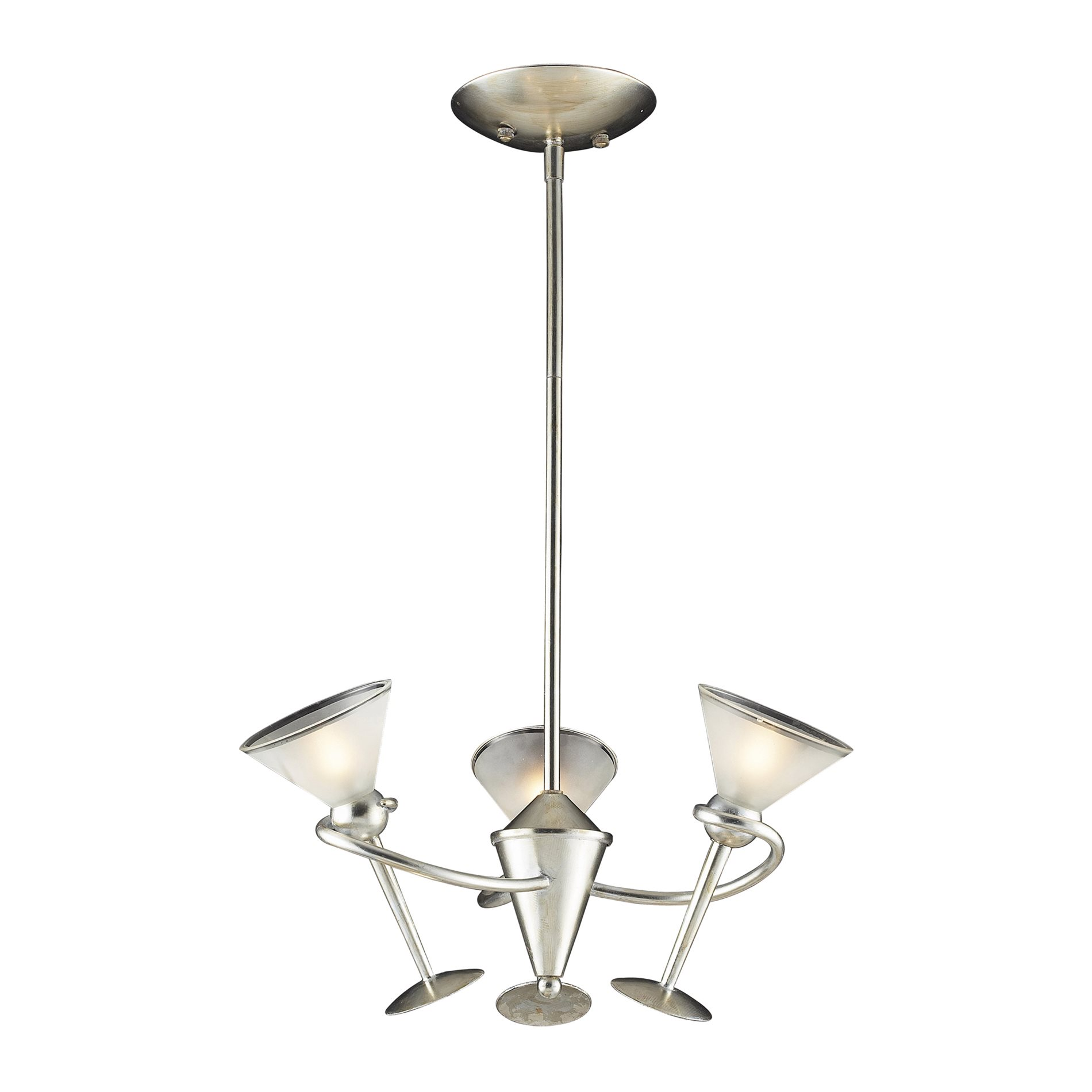 Elk Lighting Fans: Elk Lighting 3655/3 Martini Glass Modern / Contemporary