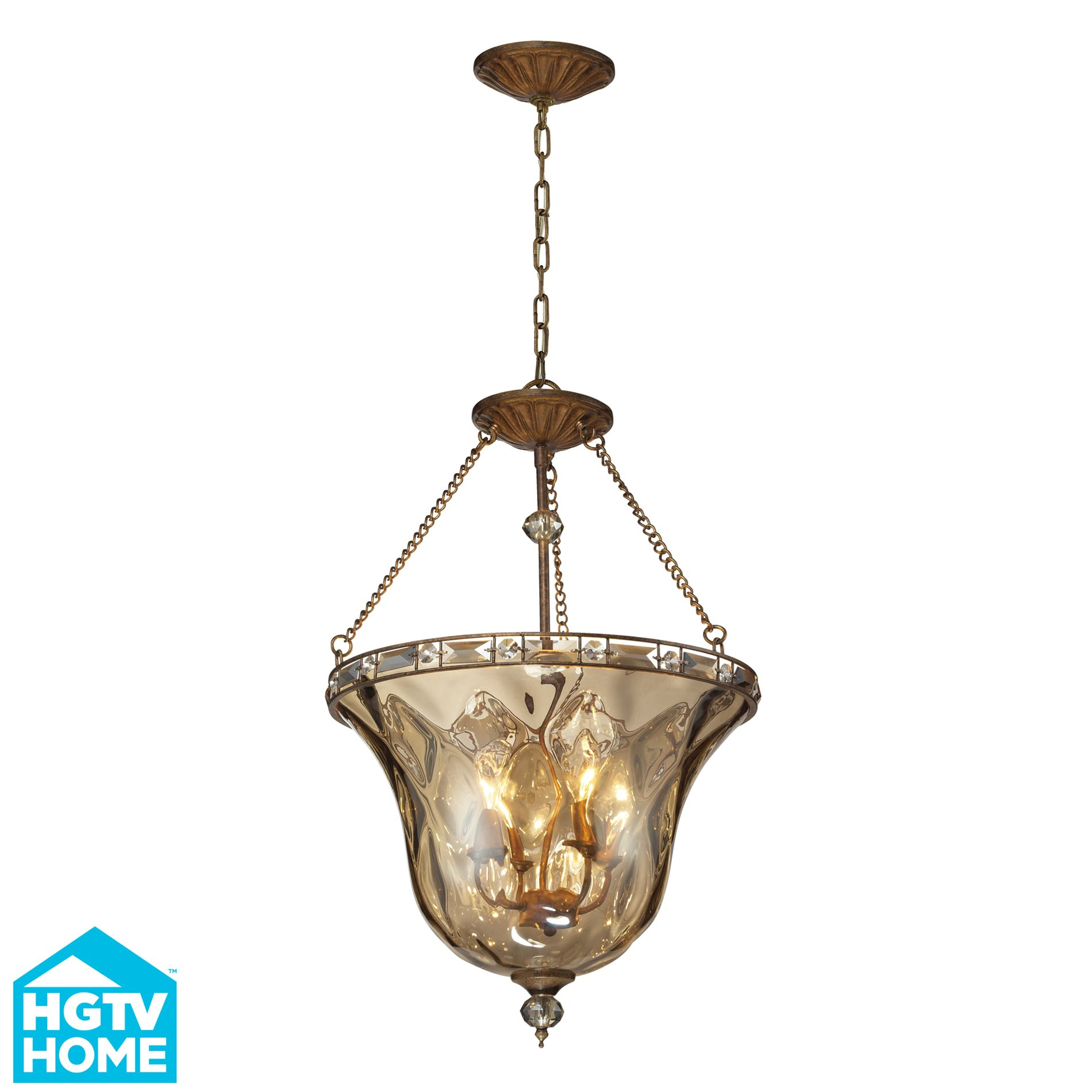 Elk Lighting Fans: HGTV 46022/4 Cheltham Contemporary Inverted Pendant Light
