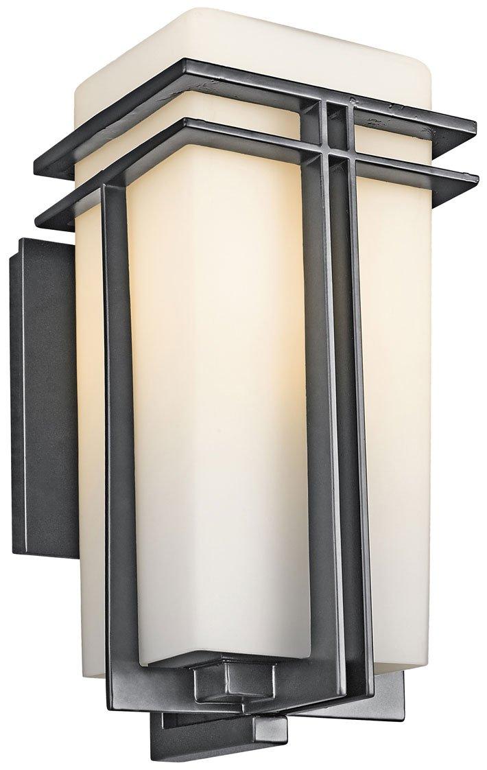 Kichler Lighting 49201bk Tremillo Modern Contemporary Outdoor Wall Sconce Kch 49201 Bk