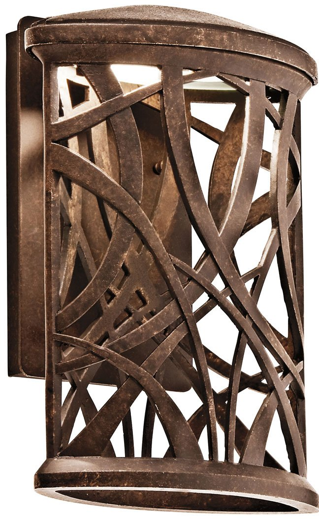 Kichler Lighting 49249AGZLED Maya Palm LED Contemporary Outdoor Wall ...