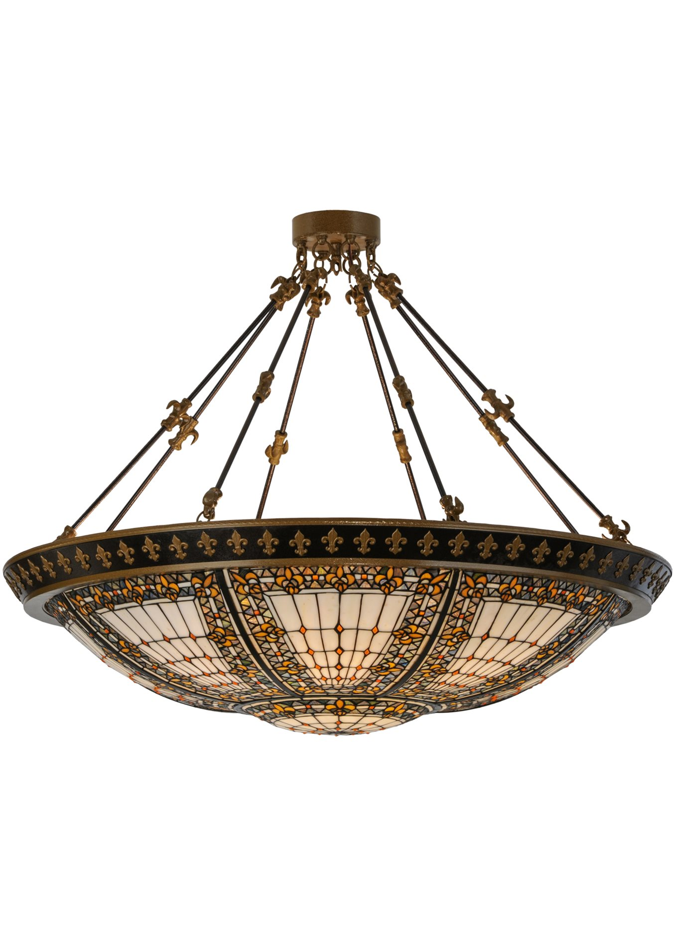meyda tiffany 99693 fleur de lis semi flush mount ceiling. Black Bedroom Furniture Sets. Home Design Ideas