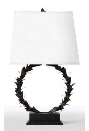 Barbara Cosgrove Laurel Wreath Modern Contemporary Table Lamp Bcg