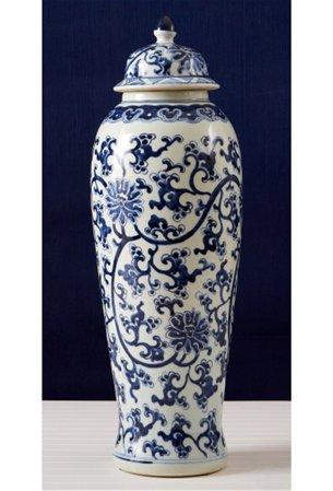 Tozai Home Blup019 Lo Blue And White Lotus Design