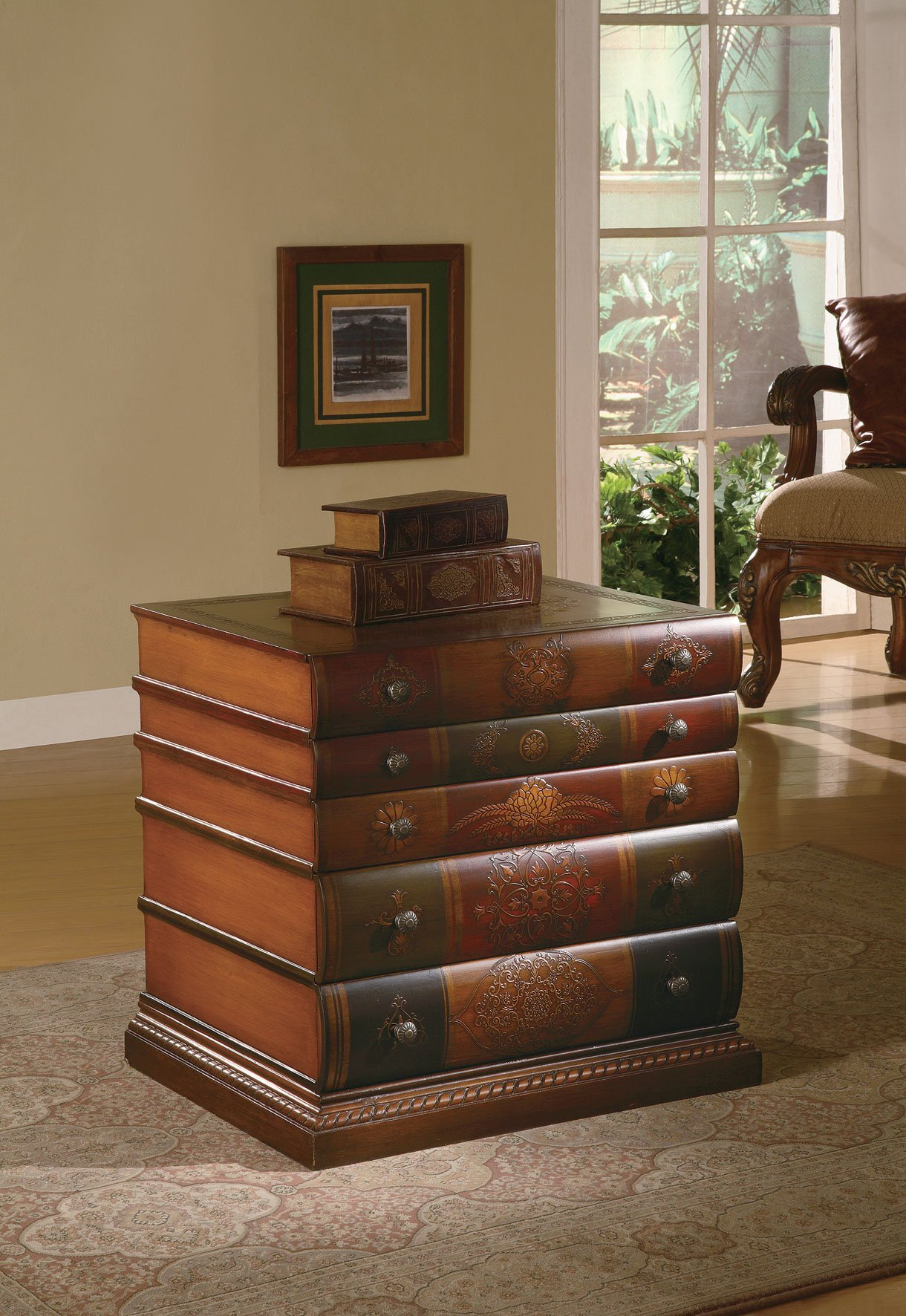 Crestview Collection Cvfyr654 Library 3 Drawer Chest Book