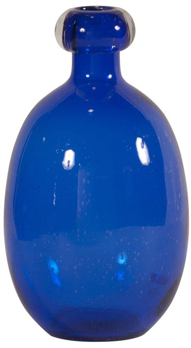 Howard Elliott 86022 Cobalt Blue Blown Glass Vase Large Hwe 86022