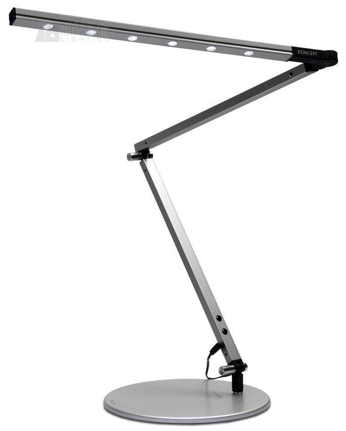 Koncept lighting hl3001 z bar high power led desk lamp kon hl3001 sil silver finish aloadofball Gallery