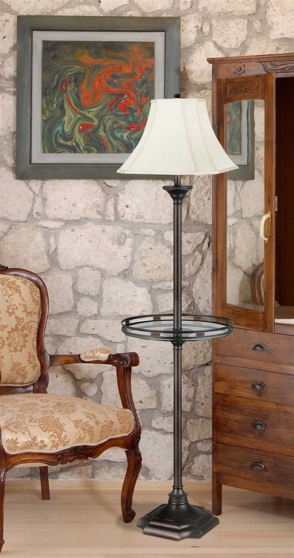 Peachy Wentworth Traditional Floor Lamp W Gallery Tray Theyellowbook Wood Chair Design Ideas Theyellowbookinfo