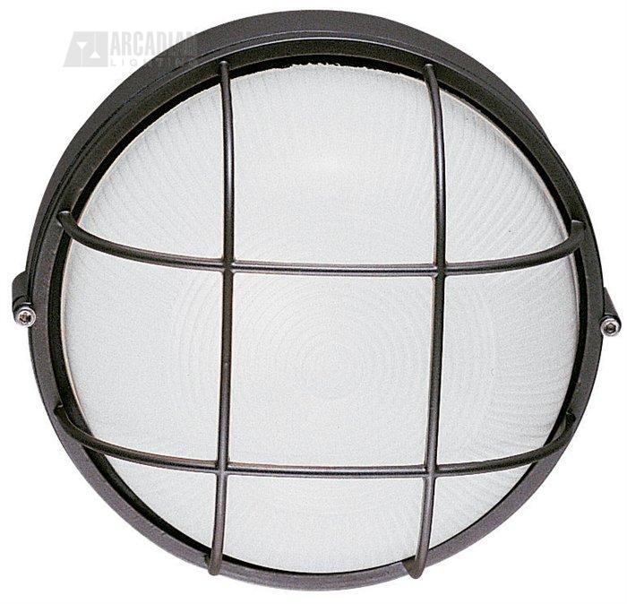 Wall Sconces Bulk: LBL Lighting LARGE-ROUND-BULK-HEAD-WITH-GUARD Large Round