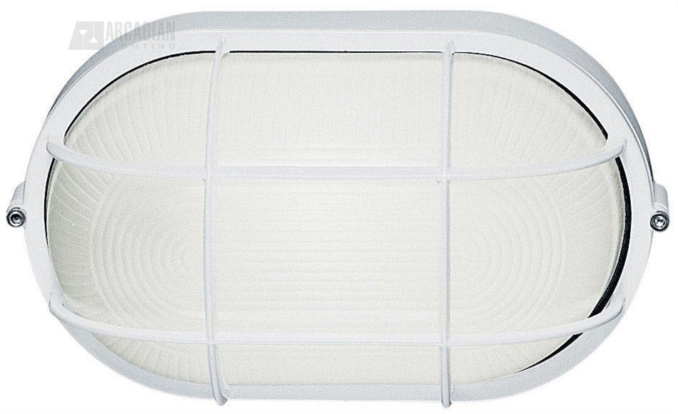 Lbl Lighting Large Oval Bulk Head With Guard Large Oval Aluminum Bulkhead Outdoor Wall Sconce