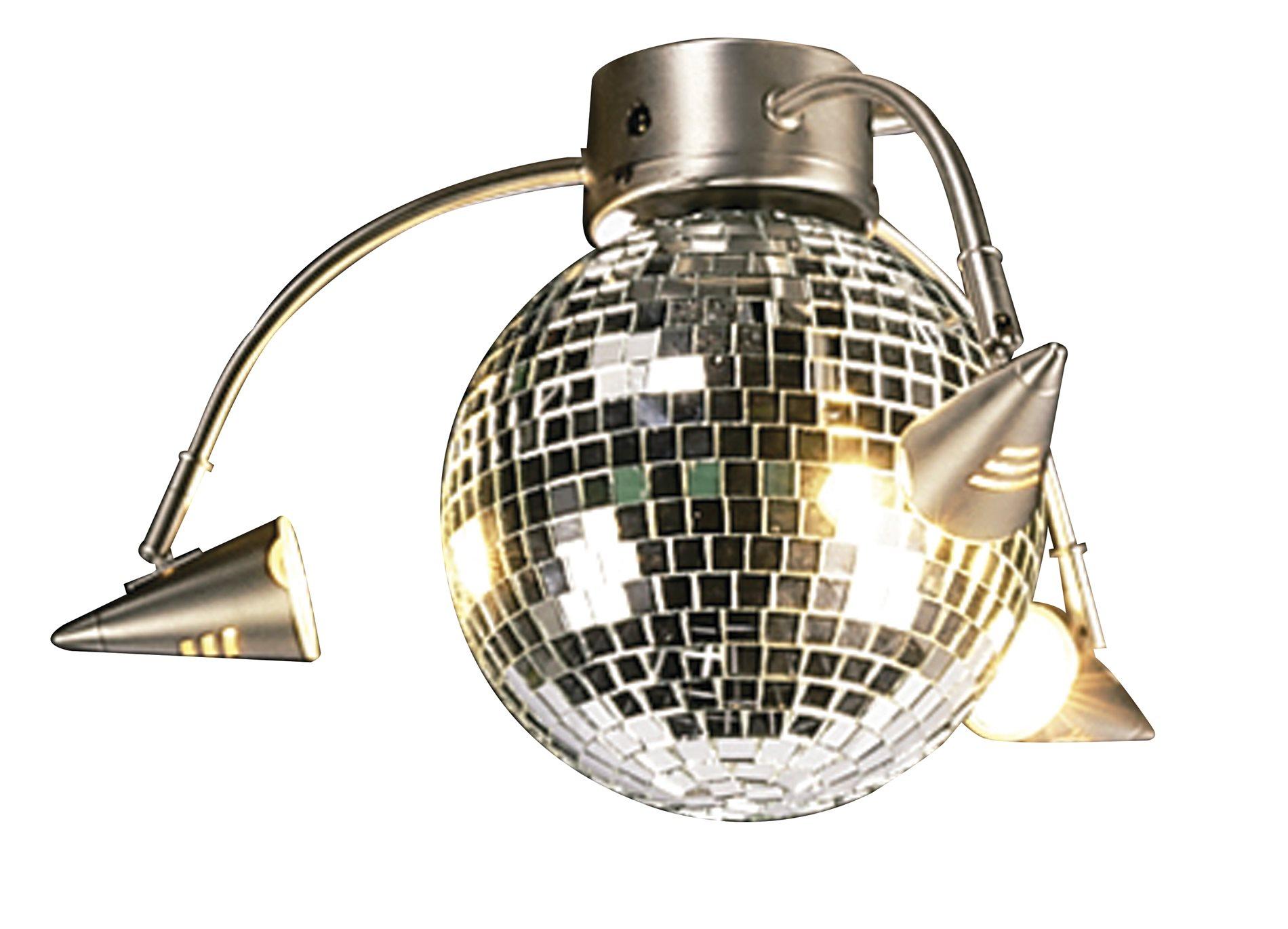 Craftmade LK55L-BN 3-Spotlight Disco Ball Light Kit CM-LK55L-BN