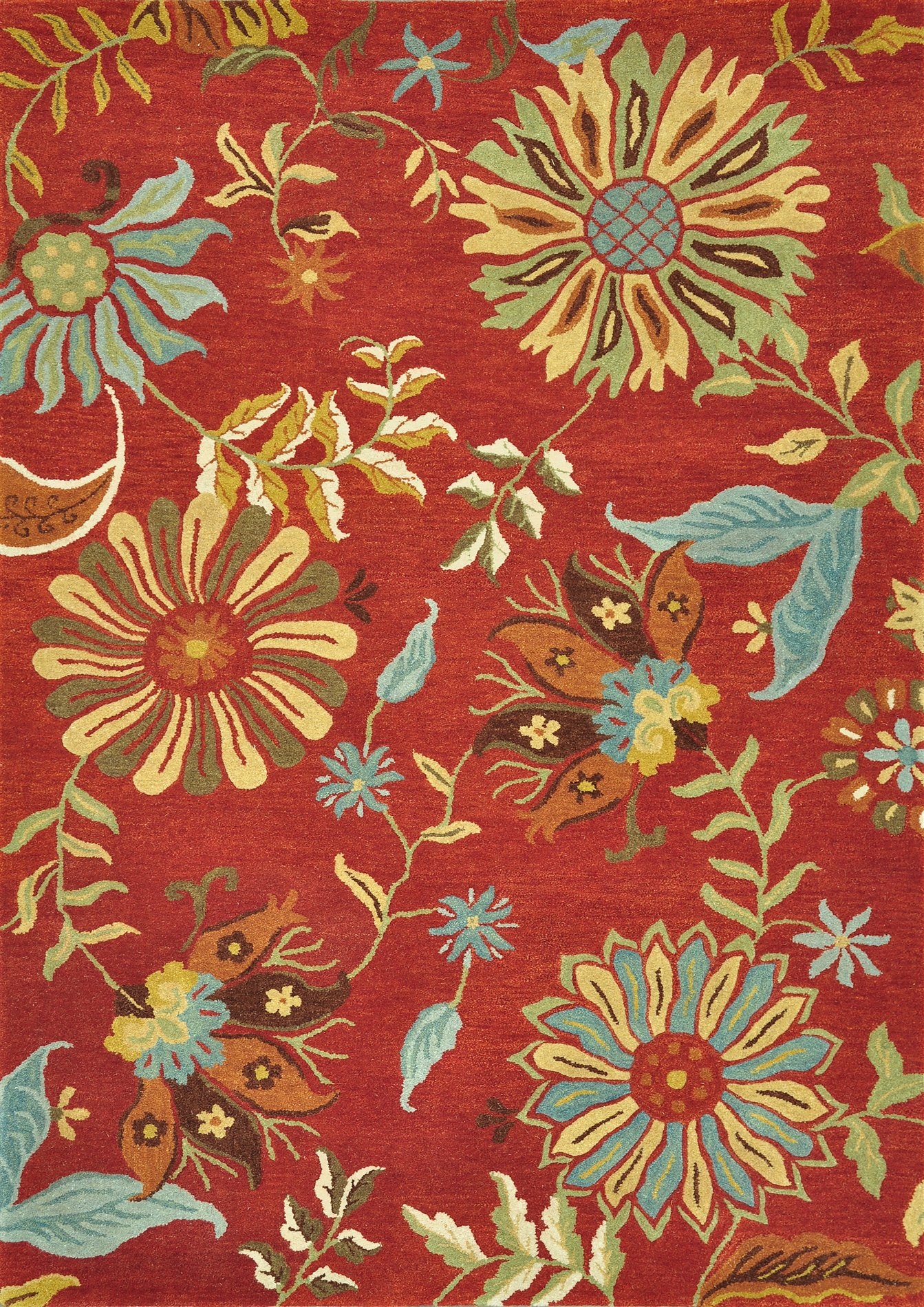 Loloi Rugs Dahldh 03re Dahlia Red Transitional Hand Tufted
