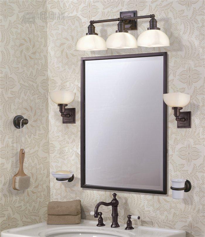 Murray Feiss Bathroom Lighting: Murray Feiss VS7903-ORB Dorchester Transitional Bathroom