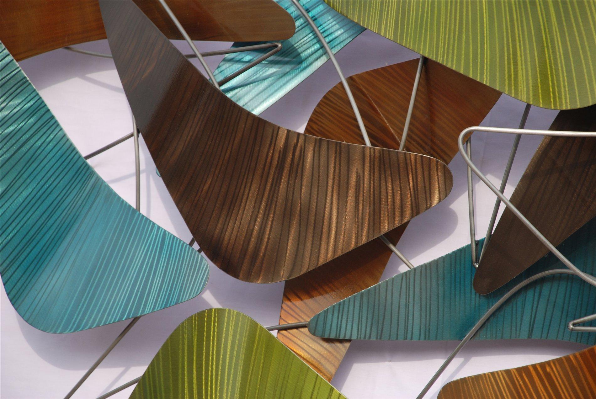 Nova Lighting 12529 Boomerang Contemporary Wall Art Wall Decor Nv 12529