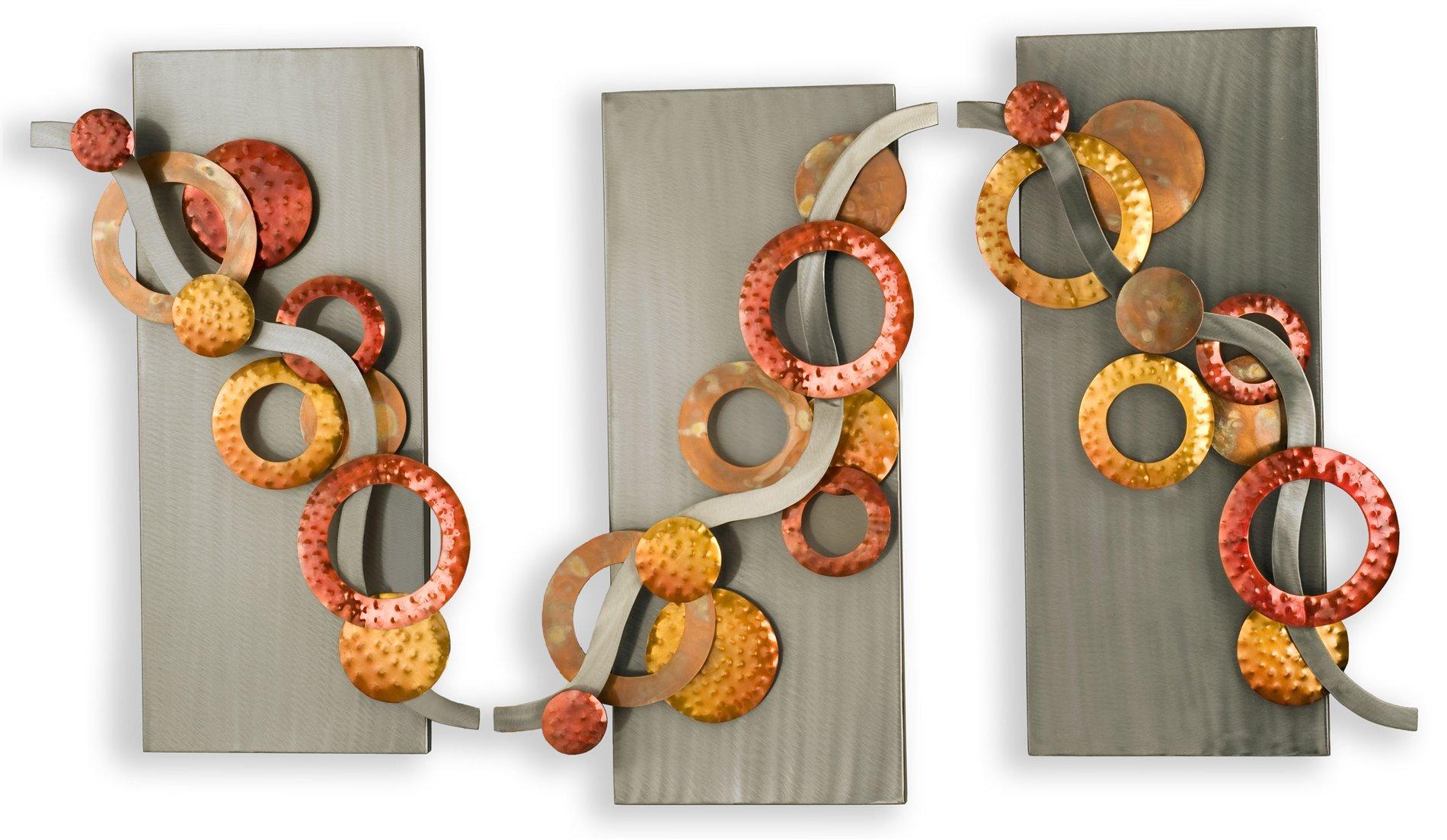 Nova Lighting 12683 Spumante Contemporary Wall Art Wall Decor Pack Of 3 Nv 12683
