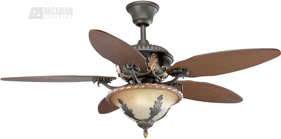 Thomasville lighting p2506 92c 54 provence traditional ceiling fan transparent light aloadofball Gallery