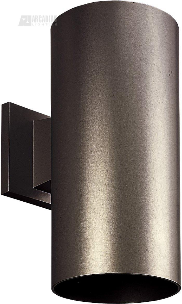 Progress lighting p5641 6 aluminum cylinder outdoor wall sconce pg 20 bronze aloadofball Choice Image