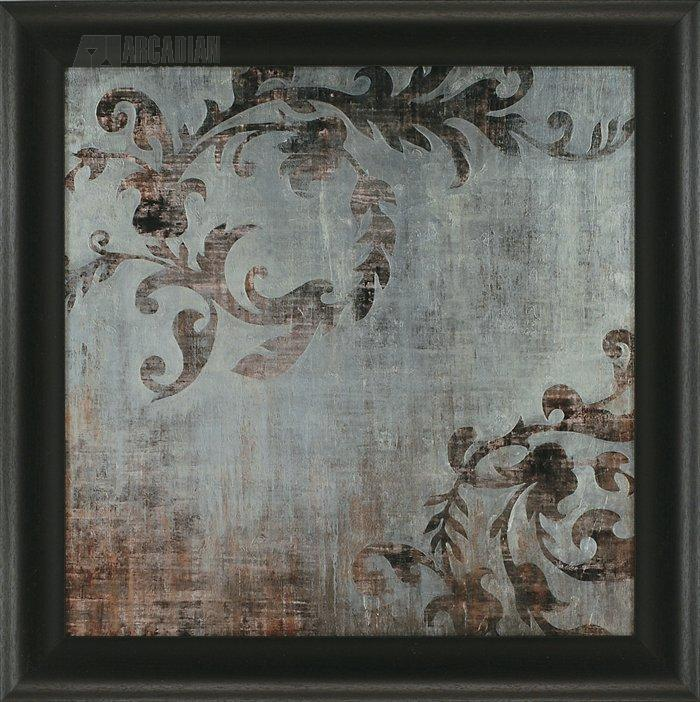 Candice Olson Traditional Living Rooms: Candice Olson 4220 Silver Blue Branches Traditional Framed