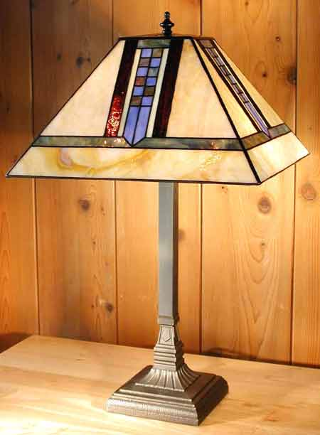 Paul Sahlin Tiffany Mission Style Tiffany Table Lamp Pst 1247 2 See Details