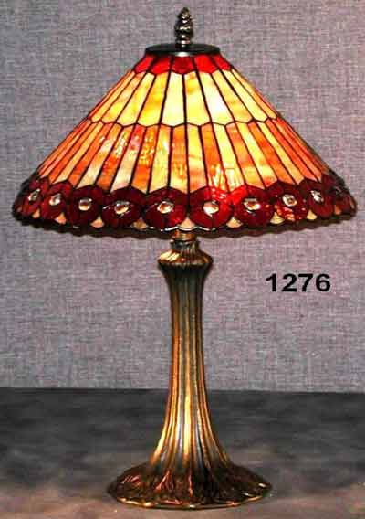 Paul Sahlin Tiffany Peacock Design Tiffany Table Lamp Pst 1276 See Details