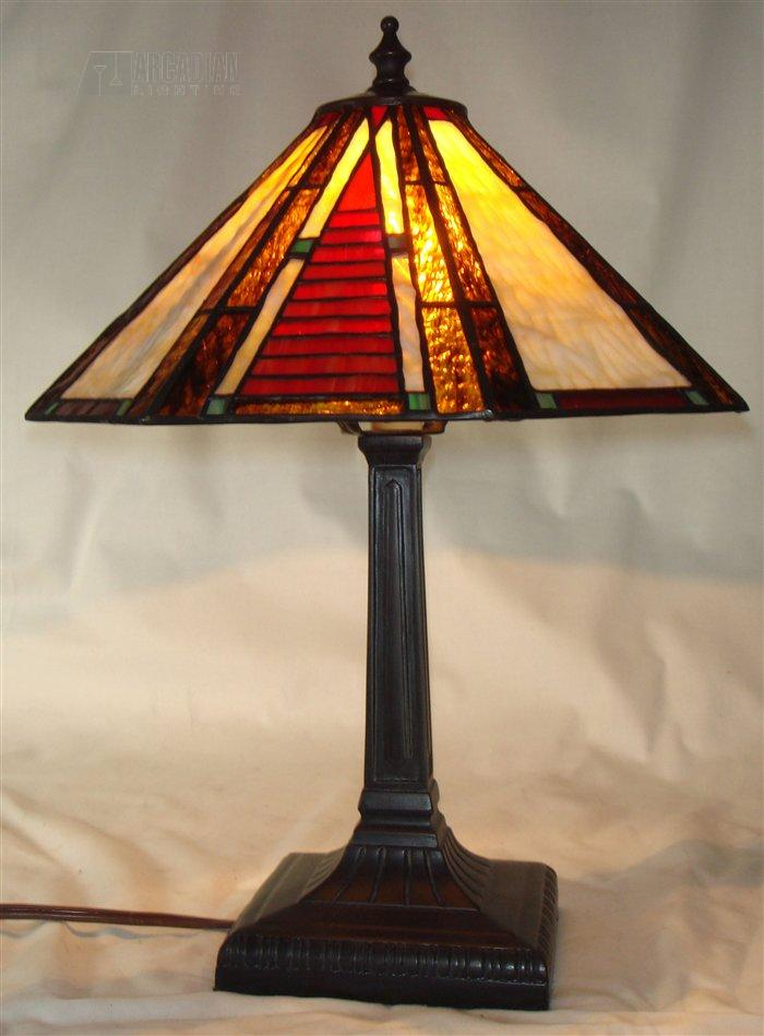 Paul Sahlin Tiffany Mission Ladder Red Accent Lamp Pst 1611 See Details