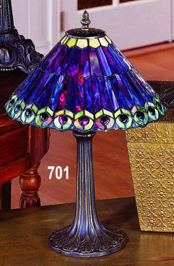 Paul Sahlin Tiffany 701 Peacock Tiffany Accent Table Lamp Pst 701