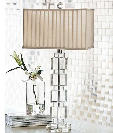 Regina Andrew Design 405 672 Stacked Crystal Cube Contemporary Table