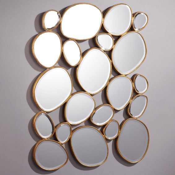 free form mirror  Free Form Modern / Contemporary Mirror (Pack of 9)