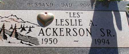 ACKERSON, LESLIE A. SR. - Apache County, Arizona | LESLIE A. SR. ACKERSON - Arizona Gravestone Photos