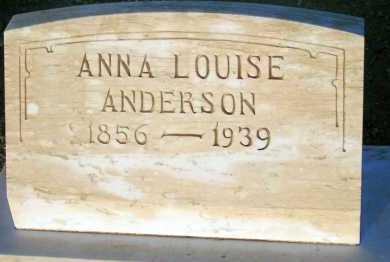 ANDERSON, ANNA LOUISE - Apache County, Arizona | ANNA LOUISE ANDERSON - Arizona Gravestone Photos