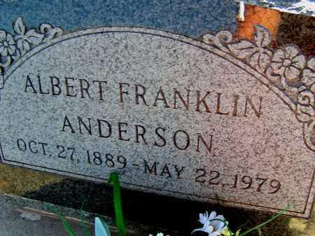 ANDERSON, ALBERT FRANKLIN - Apache County, Arizona | ALBERT FRANKLIN ANDERSON - Arizona Gravestone Photos