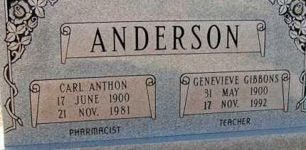 ANDERSON, CARL ANTHON - Apache County, Arizona | CARL ANTHON ANDERSON - Arizona Gravestone Photos