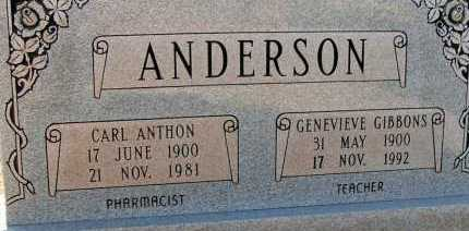 GIBBONS ANDERSON, GENEVIEVE - Apache County, Arizona | GENEVIEVE GIBBONS ANDERSON - Arizona Gravestone Photos