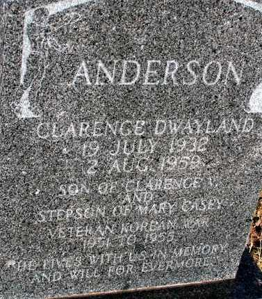 ANDERSON, CLARENCE DWAYLAND - Apache County, Arizona | CLARENCE DWAYLAND ANDERSON - Arizona Gravestone Photos
