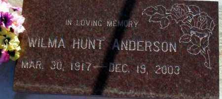 ANDERSON, WILMA - Apache County, Arizona | WILMA ANDERSON - Arizona Gravestone Photos